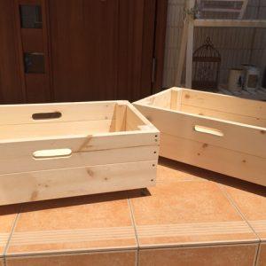 下駄箱下に収納箱を作る(2)