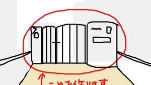 門柱作りに挑戦(1)