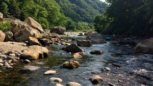 秋保のかんかね橋下で川遊び、そして秋保大滝へ